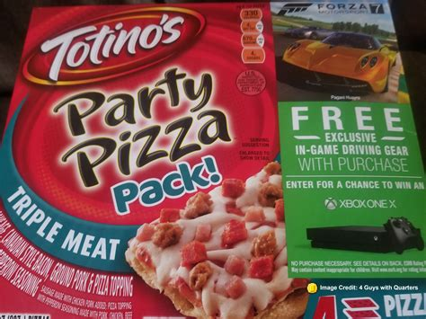 Xbox One S Sweepstakes 2017 - totino s forza 7 in game content and xbox one x sweepstakes 4 guys with quarters