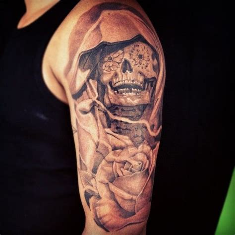 day of the dead skull tattoos for men day of the dead skull arm theme macko