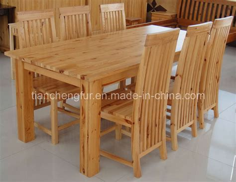 Pine Dining Table And 6 Chairs China Pine Dining Table 6 Chairs Tc8118 China Pine Chair Pinetable