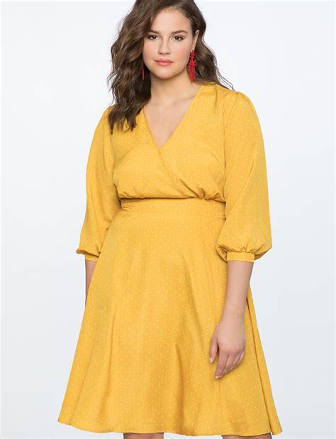 Dot Sleeve Dress dot dress with puff sleeve s plus size dresses
