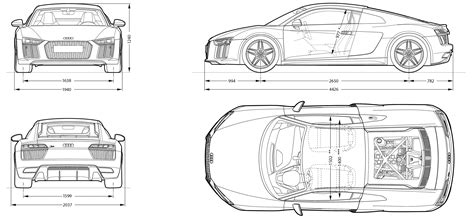 blueprints free audi r8 2016 blueprint free blueprint for 3d