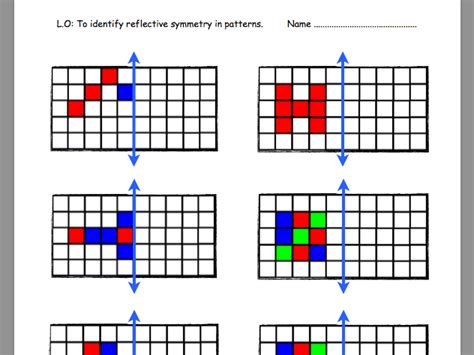 symmetrical patterns worksheet year 2 primary geometry and measures teaching resources symmetry