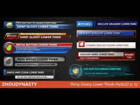 shiny glossy lower thirds pack10 in 1 after effects