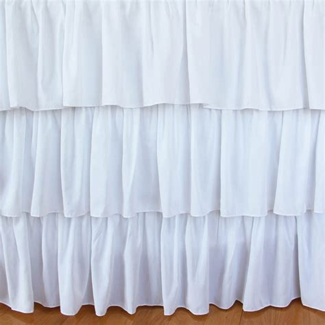 white bed skirts ruffle bed skirt
