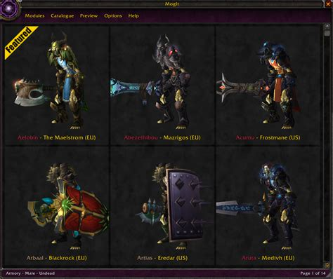 Wow Detox Addon by Category Plate Mog S Addiction
