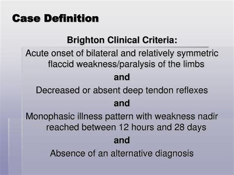 definition pattern absenteeism ppt guillain barr 233 syndrome active surveillance