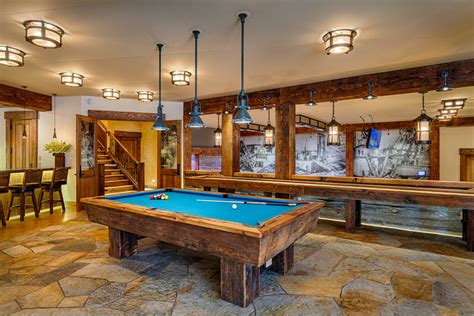 Walkout Basements good looking table shuffleboard image ideas for family