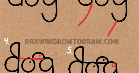how to draw doodle words how to draw a from the word easy step by step