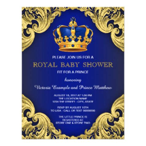 Royal Blue Baby Shower Invitations by Baby Shower Invitations Custom Baby Shower Invites Zazzle