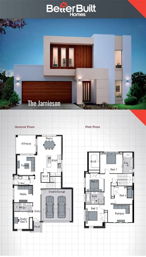 6 bedroom double storey house plans best 25 2 storey house design ideas on pinterest 2