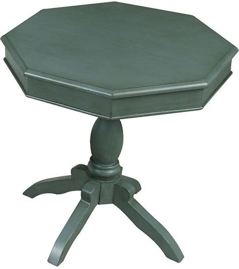 teal accent table octagon antique teal accent table cm ac6442tl furniture