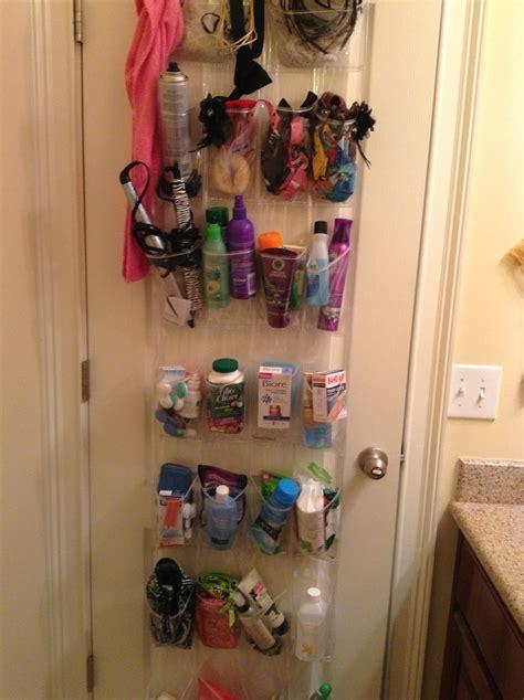 small bathroom solution hang a shoe organizer the