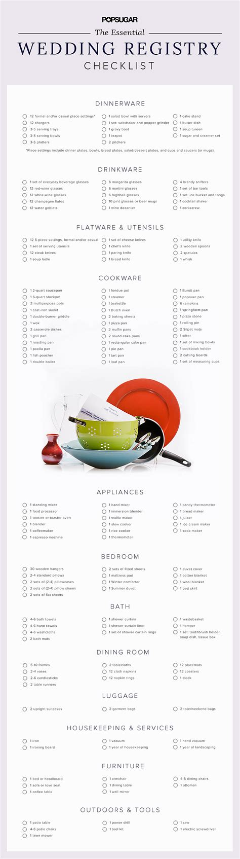 Wedding Registry List by Wedding Registry Checklist Popsugar Food