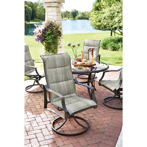 Sling Patio Dining Set Hton Bay Fcs70357cs St Statesville 5 Padded Sling Patio Dining Set Vip Outlet