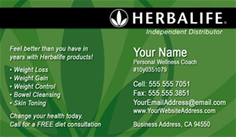 Business Card Templates Herbalife by Herbalife Business Cards Free Shipping And Design No