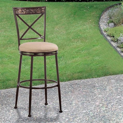 hillsdale indoor outdoor stools swivel bar stool with x
