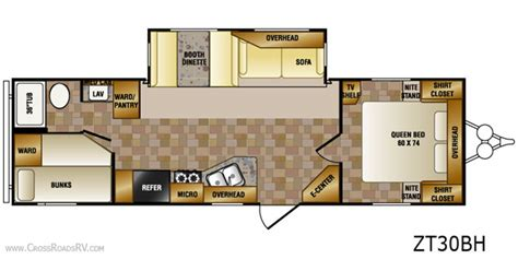 zinger travel trailers floor plans crossroads zinger rv bunkhouse cer 30bh all about