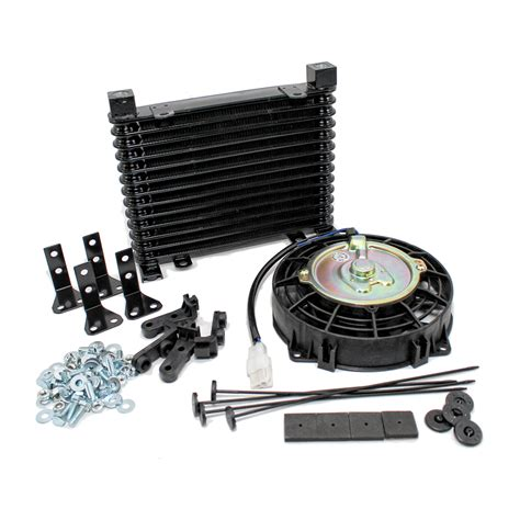 oil cooler with fan automatic transmission oil cooler w 7 quot electric fan