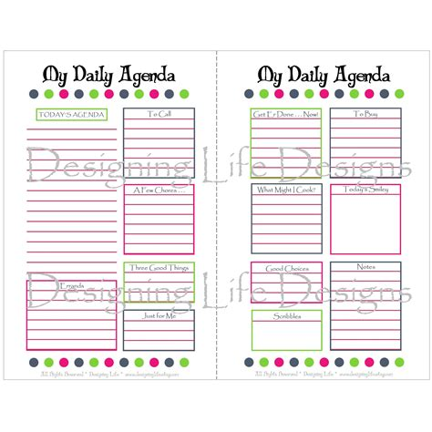 printable half sheet planner pages 5 best images of free printable half sheet planner pages