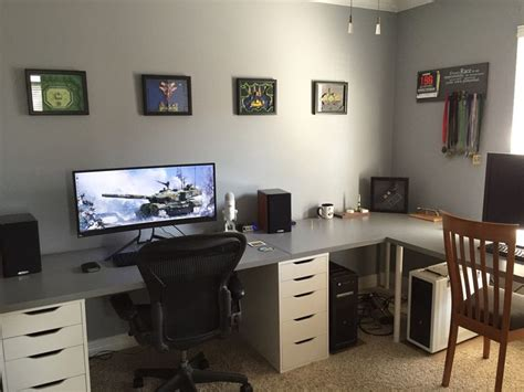 gaming office setup 808 best decor workspaces images on pinterest desk setup gaming setup and computer setup