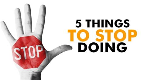 Things You Own 5 things you need to stop doing for your own