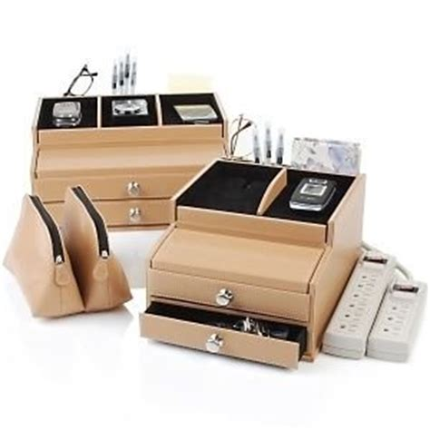 Desk With Charging Station by Deluxe Valet Charging Station And Desk Organizer With 6 Outlet Power Office