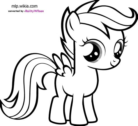Coloring Page Pony by My Pony Coloring