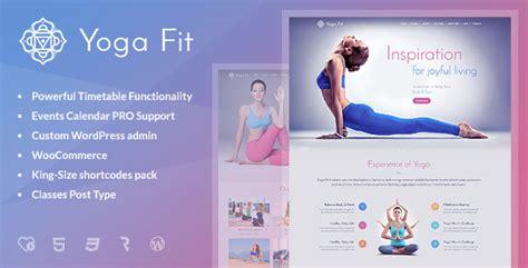 themeforest yoga yoga fit sports fitness gym wordpress theme by