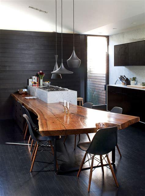 wood slab kitchen table walnut slab table panda s house