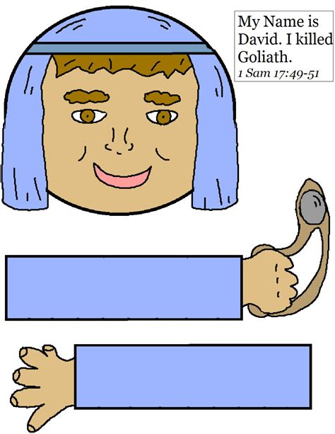 david and goliath crafts for david paper lunch bag craft