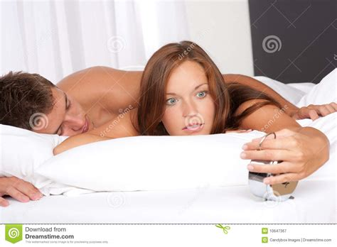 man and woman in bed young woman and man lying in white bed stock image image 10647367