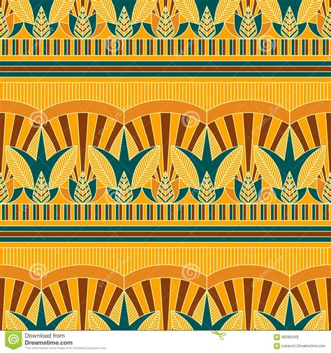 seamless traditional coloured egypt pattern stock vector