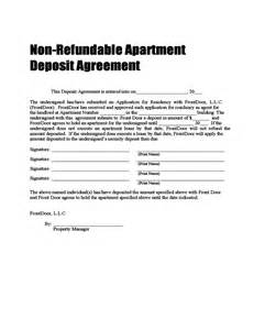 car deposit contract template non refundable deposit agreement free
