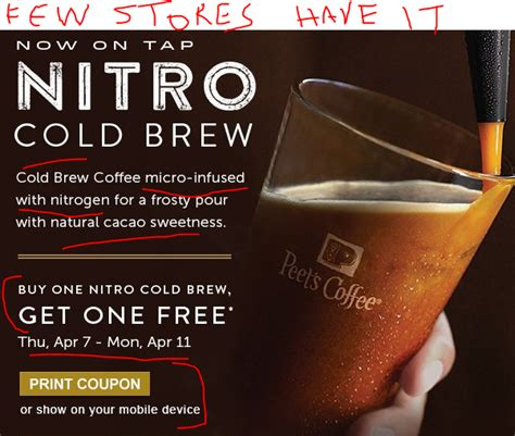 [DEAD] April 7 11: B1G1 on Peet?s Nitro Cold Brew Coffee