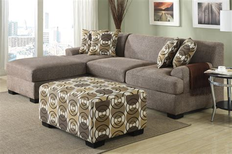 Small Living Room With Chaise Modern Small Slate Linen Sectional Sofa Reversible Chaise