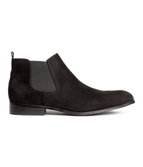 h m boots mens h m chelsea boots in black for lyst