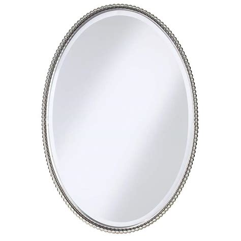 Uttermost Mirrors Oval by Uttermost Brushed Nickel Sherise 22 Quot X 32 Quot Oval Wall