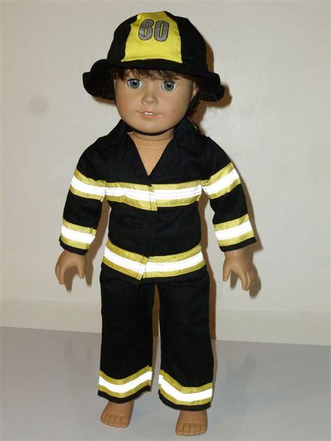 firefighter fireman firegirl costume fits 18