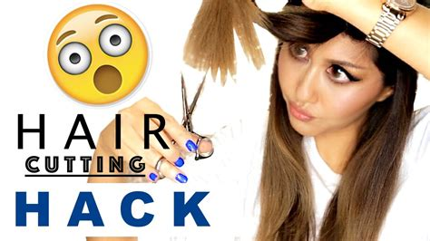 hairstyles at home youtube hair cutting hack how i cut layers at home easy