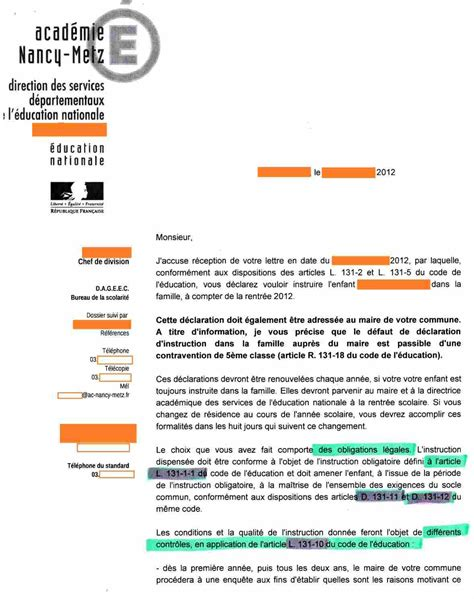 Lettre De Confirmation Ecole Inspection Contr 244 Le Courrier Inspection Acad 233 Mique