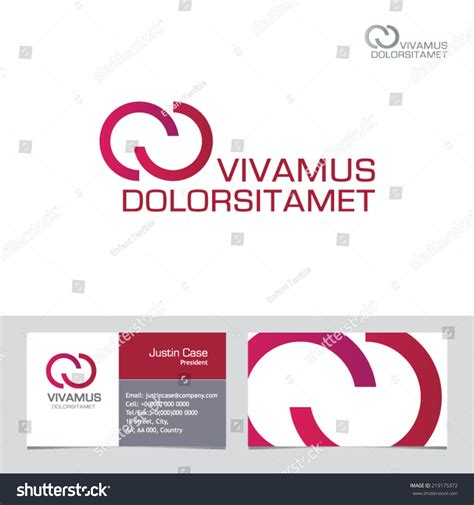 infinity card template abstract infinity shape vector logo template stock vector