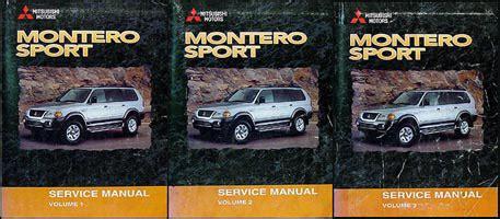 hayes car manuals 2000 mitsubishi montero auto manual 2000 mitsubishi montero sport repair shop manual set original