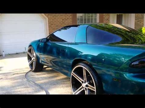 blacked out oldsmobile cutlass on 24 irocs camaro z28 on 24s burnout doovi