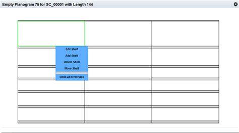 Planogram Template Override Edit Templates Data Free Planogram Templates