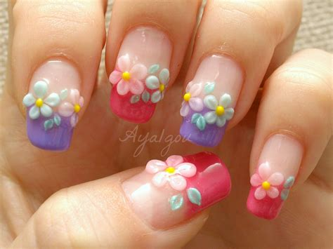 flower nail design 3d flower nail art entertainmentmesh