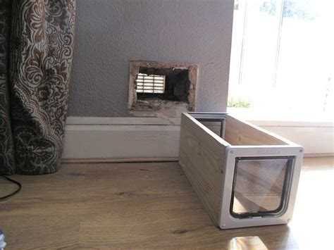Putting Cat Flap In Glass Door Cat Flap Installation In A Brick Wall Top Cat Flaps
