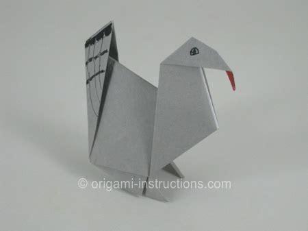 Origami Turkey Diagrams - origami turkey folding how to make an