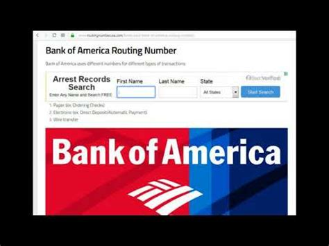 How To Find Bank Of America Routing Number