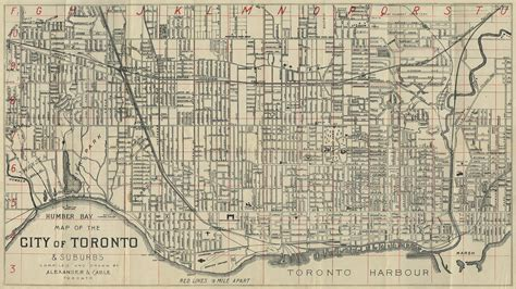 map of toronto map of the city of toronto suburbs digital archive toronto library
