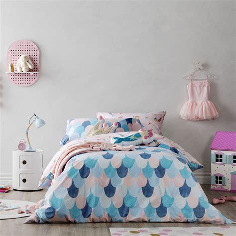 kids coverlets adairs kids mermaid dreaming quilt cover set bedroom